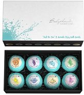 Luxurious 100% Natural 8 Bath Bomb Gift Box - New Larger 3.5oz Size - Pure Essential Oils for the Best Lush, Relaxing Bath. For Women & Men, Bodyphoria Fizzies Make the Perfect Special Day Set