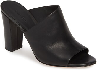 Vince Hanna Block Heel Slide Sandal