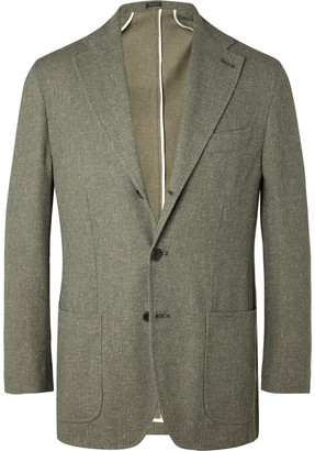 Rubinacci Slim-Fit Melange Woven Blazer