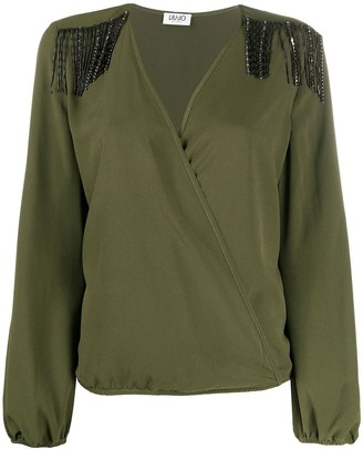Liu Jo Long-Sleeve Wrap Blouse