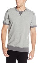 Calvin Klein Jeans Men's Solid Short Sleeve Crew Neck Sweatshirt