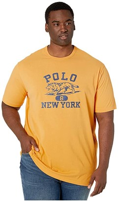 Polo Ralph Lauren Big & Tall Big Tall Classic Fit Graphic T-Shirt (Gold Bugle) Men's Clothing