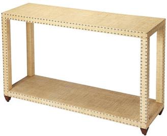 BEIGE Danilo Cream Raffia Console Table