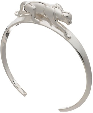 Rachel Jackson London Panther Bangle - Silver