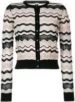 M Missoni waved knit cardigan - women - Cotton/Polyamide/Polyester/Viscose - 40