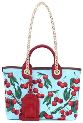 Dolce & Gabbana Exclusive to Mytheresa Capri cherry printed canvas shopper