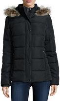 ST. JOHN'S BAY St. Johns Bay Faux-Fur Trim Puffer Coat - Tall