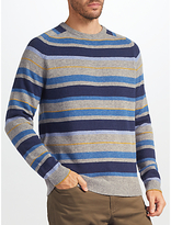 John Lewis Stripe Knit Jumper, Grey