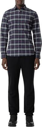 Burberry Men's Simpson Check-Pattern Sport Shirt