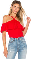 Michael Stars Off The Shoulder Flounce Top in Red. - size M (also in S,XS)