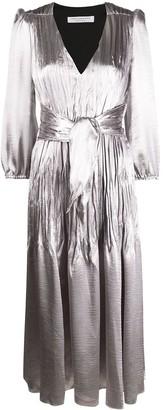 Philosophy di Lorenzo Serafini Metallic Gathered-Detail Dress