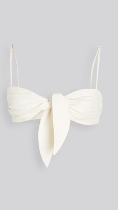 Off-White Linen Lady Bunny Bra