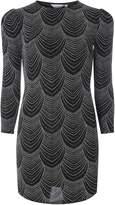 Dorothy Perkins Petite Silver Puff Sleeve Bodycon Dress