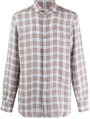 Mazzarelli Checked Long Sleeve Shirt