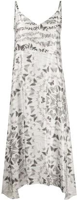 AllSaints Butterfly-Print Slip Dress