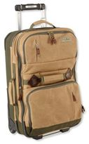 L.L. Bean Continental Waxed Canvas Expandable Rolling Pullman, Medium
