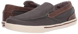 Tommy Bahama Calderon Venetian (Dark Grey/Brown Waxed) Men's Slip on Shoes