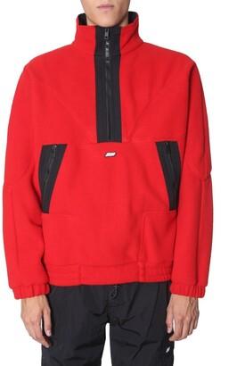 MSGM Logo Plaque Half Zip Sweater