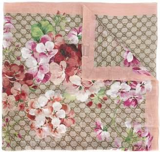 Gucci interlocking GG floral scarf