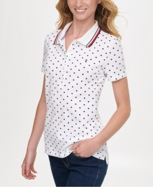 Tommy Hilfiger Dot-Print Polo Shirt, Created for Macy's