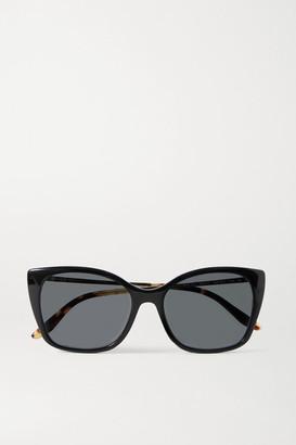 Prada Square-frame Acetate And Gold-tone Sunglasses - Black