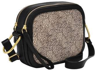 Fossil Elle Crossbody Handbags White Cheetah