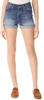 Madewell High Rise Denim Boy Shorts in Glen Oaks