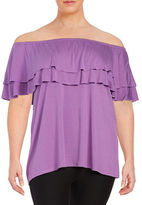 Context Plus Ruffled Off-the-Shoulder Top