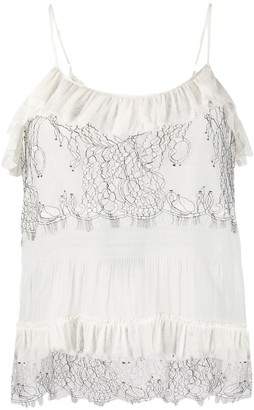 Twin-Set Lace Detail Camisole Top