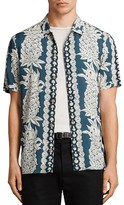 AllSaints Ananas Slim Fit Button-Down Shirt