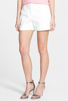 Vince Camuto Flat Front Cuff Stretch Cotton Shorts