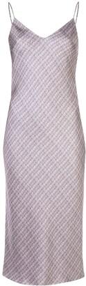 Adam Lippes Check Print Shift Dress
