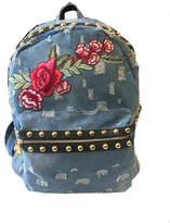 Private Label Denim Studded Backpack