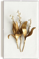 Horchow Tommy Mitchell Original Gilded Lily of the Valley on Linen