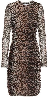 Ganni Leopard-printed minidress