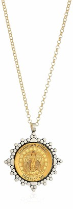 Dogeared Angels Among Us Guardian Angel 2-Tone Saint Chain Necklace