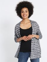 Marks and Spencer Striped Waterfall Cardigan