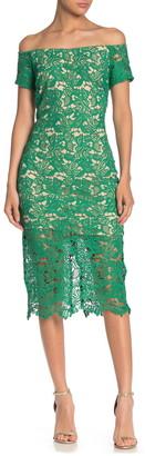 Marina Off-the-Shoulder Lace Dress