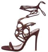 Schutz Suede Lace-Up Sandals w/ Tags
