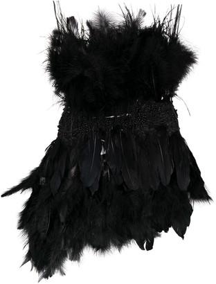 Alchemy Embellished Feather Vest