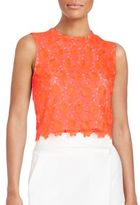 A.L.C. Adriana Lace Cropped Shell