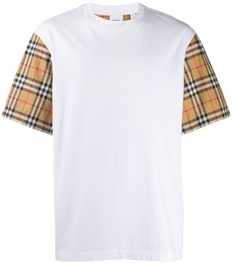 Burberry checked sleeves T-shirt