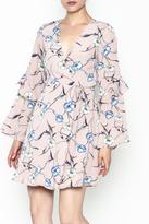 Lush Pale Pink Floral Dress