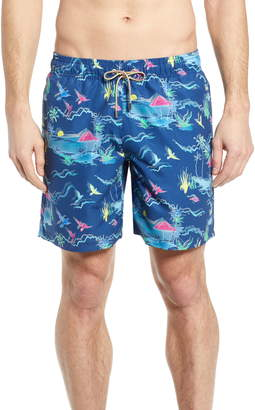 Bugatchi Regular Fit Swim Trunks