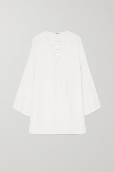 Cult Gaia Naomi Lace-up Crepe Mini Dress - Cream