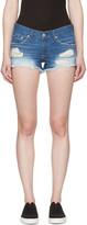 Rag & Bone Blue Distressed Cut-off Jean Shorts