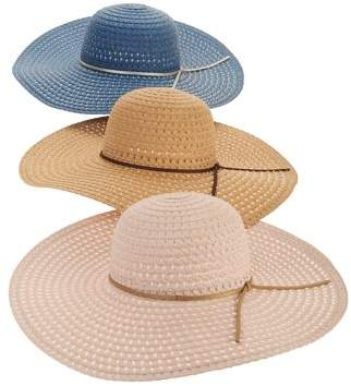 1a0354af87970 Time and Tru Women's Straw Floppy Hat 3-pack