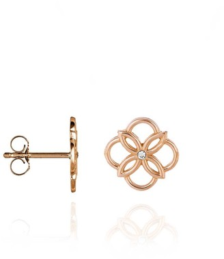 Perle de Lune Mini Daisy Ear Studs Rose Gold