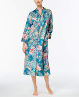 Miss Elaine Printed Brushed Satin Robe