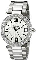 Freelook Women's HA1536M-4 All Silver Shiny s Crystal Bezel Watch